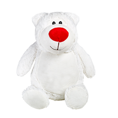 White teddy bear plush toy for personalised Embroidery