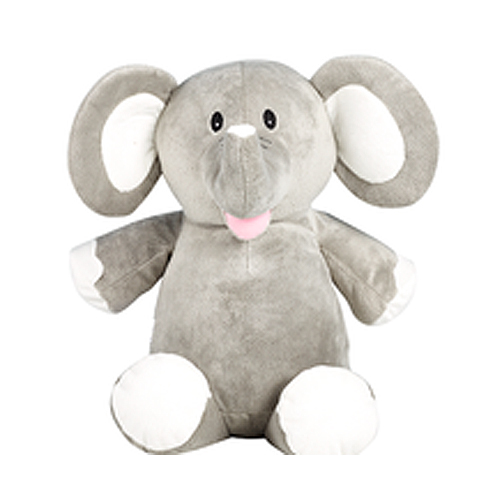 Grey Elephant embroidery soft