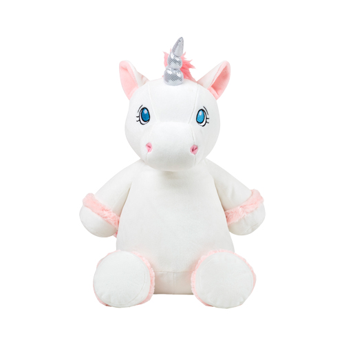 Unicorn plush toy for personalised embroidered Message