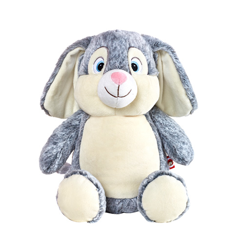 Grey bunny stuffed toy for embroidery