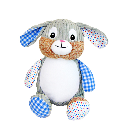 Blue Patch plush toy Bunny for Embroidery