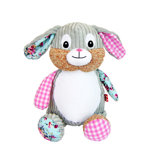 Pink Patch plush toy Bunny for embroidery